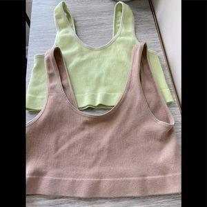 (4/$14) 2 X Stretchy Cotton Blend Bra Tops
